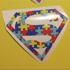 Other - Superman Autism Awareness Puzzle Decal